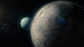 Mała planeta w głębokiej przestrzeni Planeta Mercury Niesamowicie piękna przestrzeń ilustracji