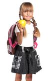 mała plecak dziewczyna Obrazy Stock