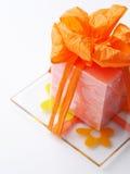 mała pomarańcza prezent obraz stock