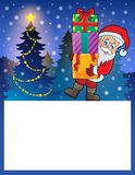 Mała rama z Święty Mikołaj 6 Fotografia Royalty Free