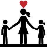 Mała rodzina Zdjęcia Royalty Free