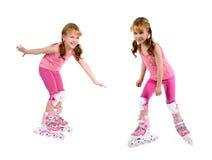 mała rolkowa dziewczyny łyżwa Zdjęcie Stock