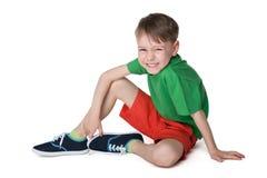Mała roześmiana chłopiec Fotografia Royalty Free