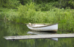 Mała rząd łódź Obraz Royalty Free