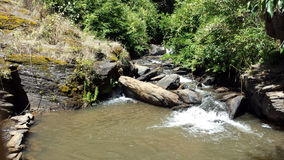 Mała rzeka na Trovolhue miasteczku - Chile obraz stock