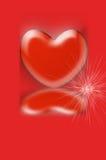 mała serce ampuła Fotografia Stock