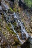 Mała siklawa w karierze stary obiektyw w Sverdlovsk regionie fotografia stock