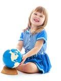mała smokingowa błękit dziewczyna Zdjęcia Stock