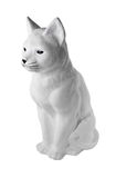 Mała statua beton dla kształtować teren niebieski kot się Zdjęcie Royalty Free