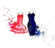 Mała suknia royalty ilustracja