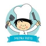 Mała szef kuchni chłopiec ilustracja wektor