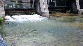 Mała tama w wodnym kanale w Italy zdjęcie wideo