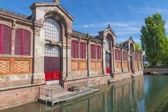 Mała Wenecja ćwiartka w Colmar Zdjęcia Royalty Free