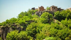 Mała wioska między górami w Armenia Zdjęcia Royalty Free
