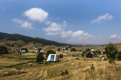 Mała wioska w Durmitor parku narodowym, Monenegro fotografia stock