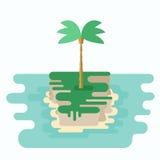a mała wyspa ilustracji