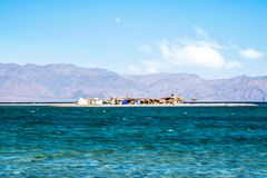 Mała wyspa w Abu Galum Dahab zdjęcia royalty free