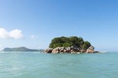 Mała wyspa w Seychelles zdjęcie royalty free