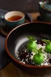 Mała zieleń glazurująca jabłko pustynia Obrazy Stock