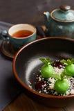 Mała zieleń glazurująca jabłko pustynia Zdjęcie Stock