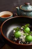 Mała zieleń glazurująca jabłko pustynia Fotografia Stock