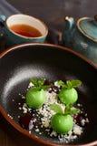 Mała zieleń glazurująca jabłko pustynia Zdjęcia Stock