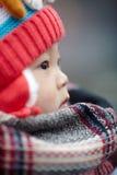 Mała zimy chłopiec Obrazy Royalty Free