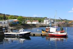 Małe łódki na Loch Gilp przy Ardrishaig, Szkocja Zdjęcia Stock