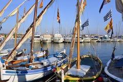 Małe łódki w porcie Bandol w Francja Zdjęcia Stock