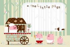 Małe świnie karmowego sądu rama Fotografia Royalty Free