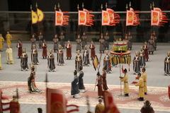 Małe Chińskie statuy Obrazy Royalty Free