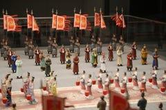 Małe Chińskie statuy Zdjęcia Stock