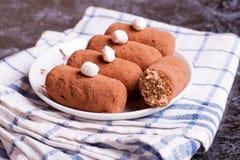 małe czekoladowe ciasto słodkie ciasto Obrazy Stock