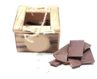 małe drewniane pudełko Zdjęcie Royalty Free