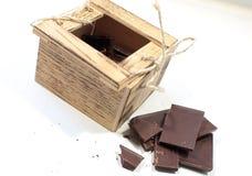małe drewniane pudełko Obrazy Royalty Free