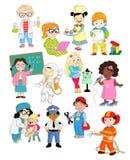 Małe dzieci udają jako dorosli royalty ilustracja