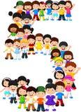 Małe dziecko forma liczba pięć ilustracji