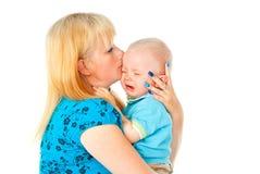 Małe dziecko płacz Obrazy Royalty Free