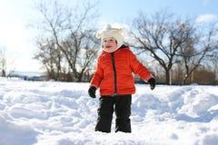 Małe dziecko w zimie obrazy stock