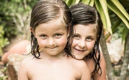 Małe dziewczynki Fotografia Royalty Free