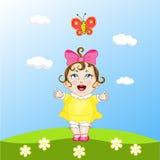 małe dziewczynki grać Obraz Royalty Free