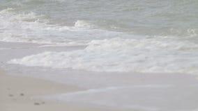 Małe fala morze przy świtem zbiory