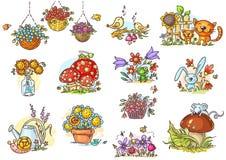Małe i proste kreskówek ilustracje z royalty ilustracja