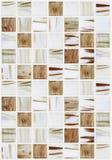 Małe marmuru kwadrata płytki z beżowymi kolorów skutkami Obraz Stock