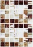 Małe marmuru kwadrata płytki z brown kolorów skutkami Obrazy Stock