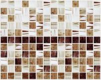 Małe marmuru kwadrata płytki z brown kolorów skutkami Obraz Royalty Free