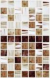 Małe marmuru kwadrata płytki z brown kolorów skutkami Zdjęcia Stock