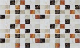 Małe marmuru kwadrata płytki z kolorów skutkami Zdjęcia Royalty Free