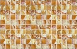 Małe marmuru kwadrata płytki z kolorów skutkami Obrazy Royalty Free