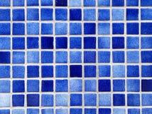 małe niebieskie tło kwadratowy płytki Zdjęcie Royalty Free